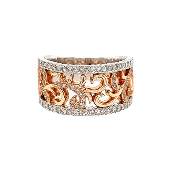 Rose & White Gold Ring