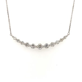 Curved Diamond Necklace