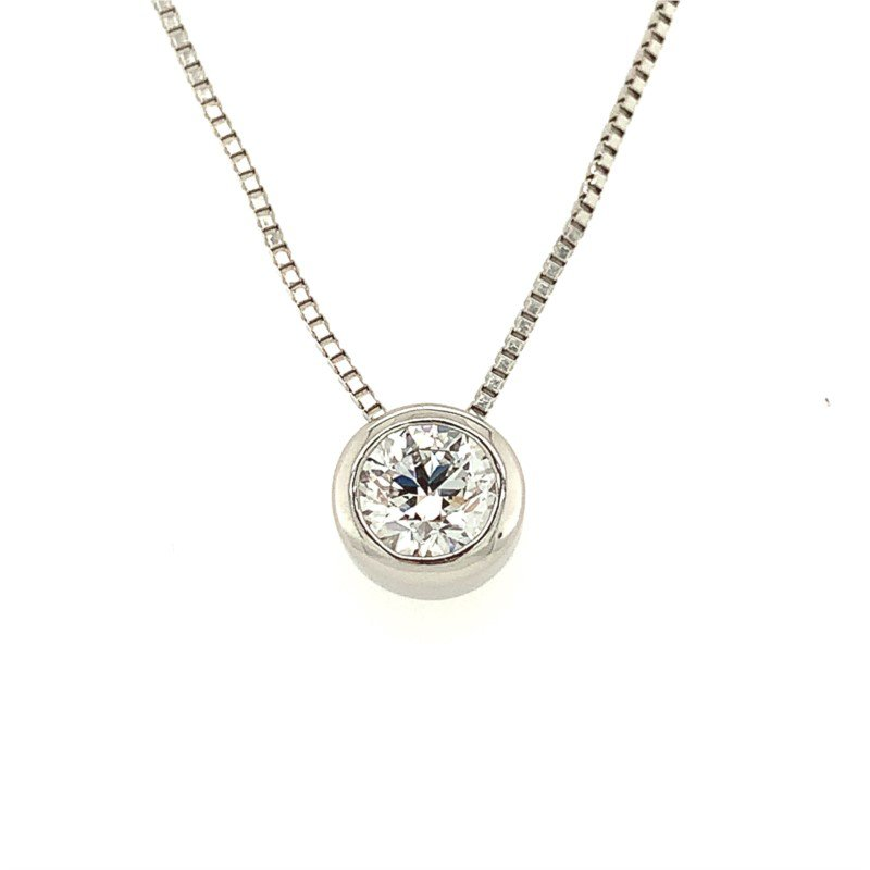 Signature Estate Bezel Set Diamond Pendant