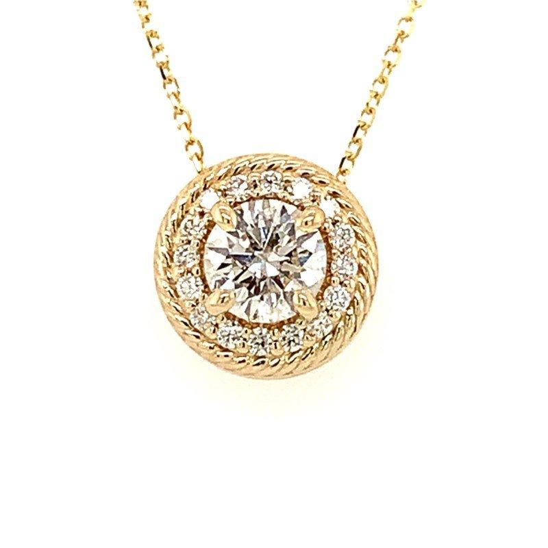Moses Signature Diamond Halo Necklace