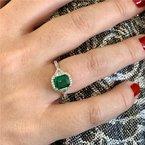 Moses Signature Columbian Emerald Ring