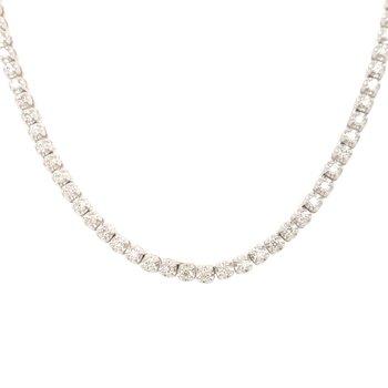 Diamond Half Tennis Necklace