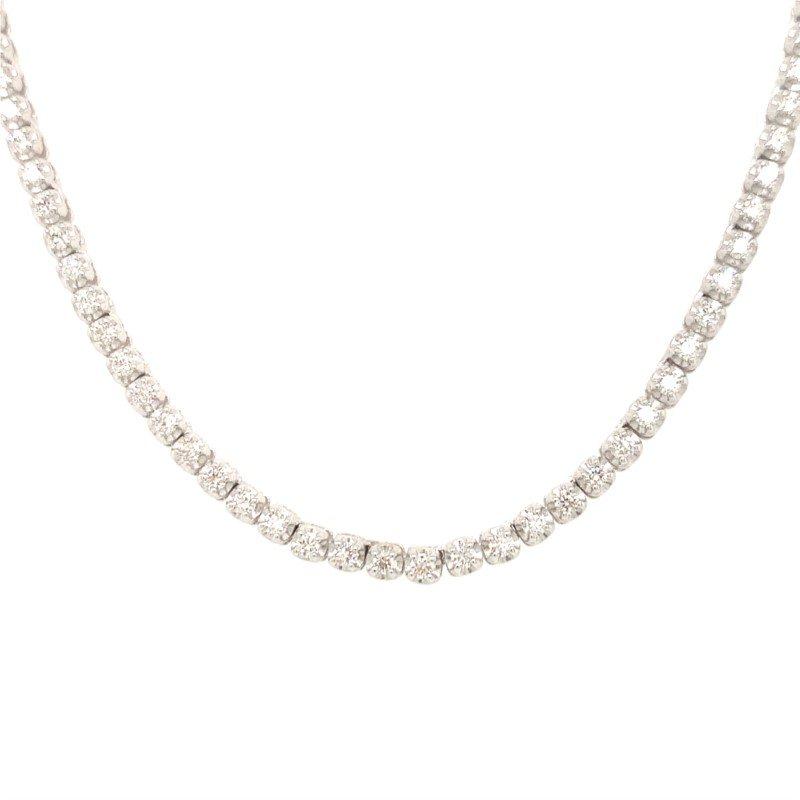Moses Signature Diamond Half Tennis Necklace
