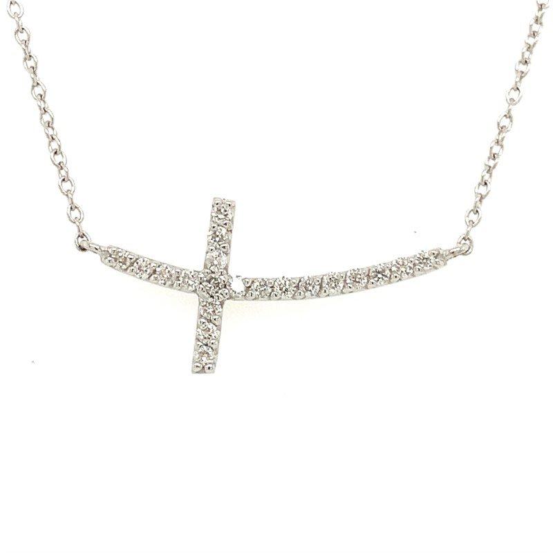 Phillip Gavriel Sideways Cross Necklace