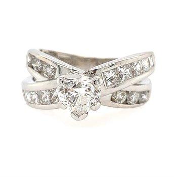 Heart-Shape Diamond Engagement Ring