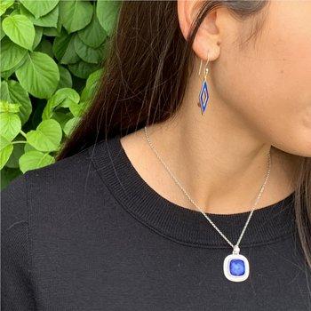 Reversible Enamel Earrings