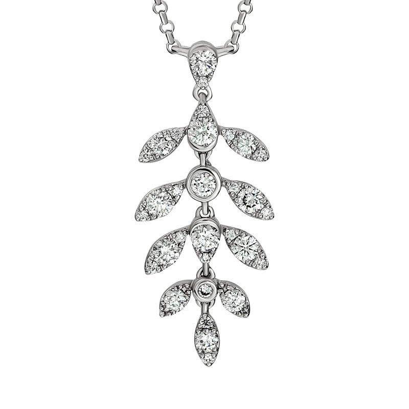 Wear-EVERY-Where Diamond Leaf Necklace