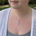 Moses Signature Diamond Cross Necklace