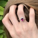 Coast Diamond Rhodolite Garnet Ring