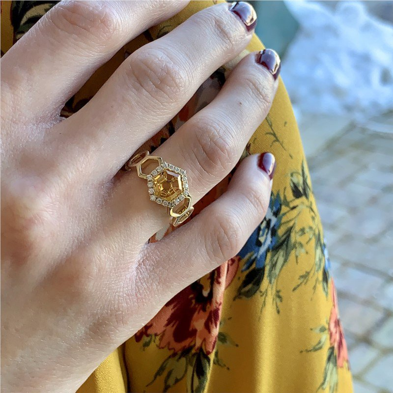 Wear-EVERY-Where Citrine Ring