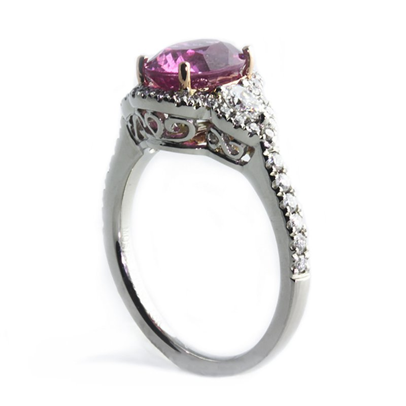 Moses Signature Pink Sapphire Ring
