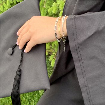 Sparkling Paperclip Bracelet