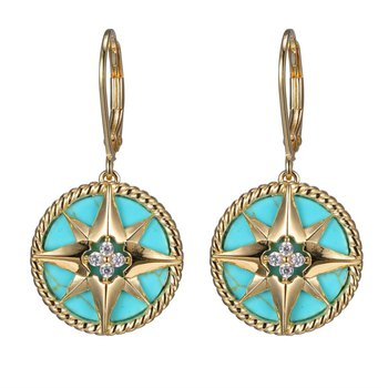 """""""True North"""" Compass Earrings"""
