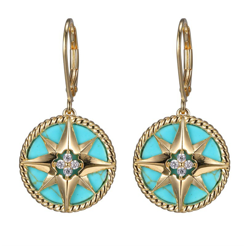 "Charles Garnier Paris ""True North"" Compass Earrings"