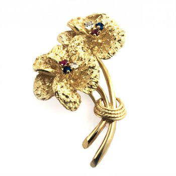Twin Flower Pin