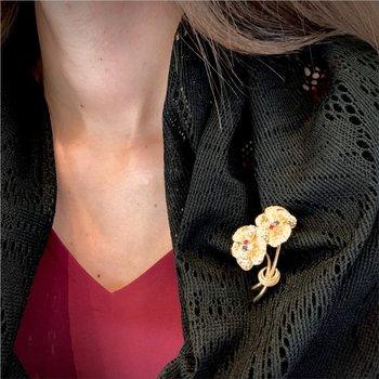 Twin Flower Pin