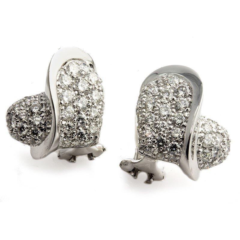 Signature Estate Diamond Heart Earrings