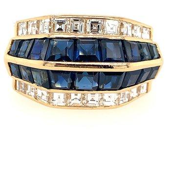 Sapphire & Diamond Ring
