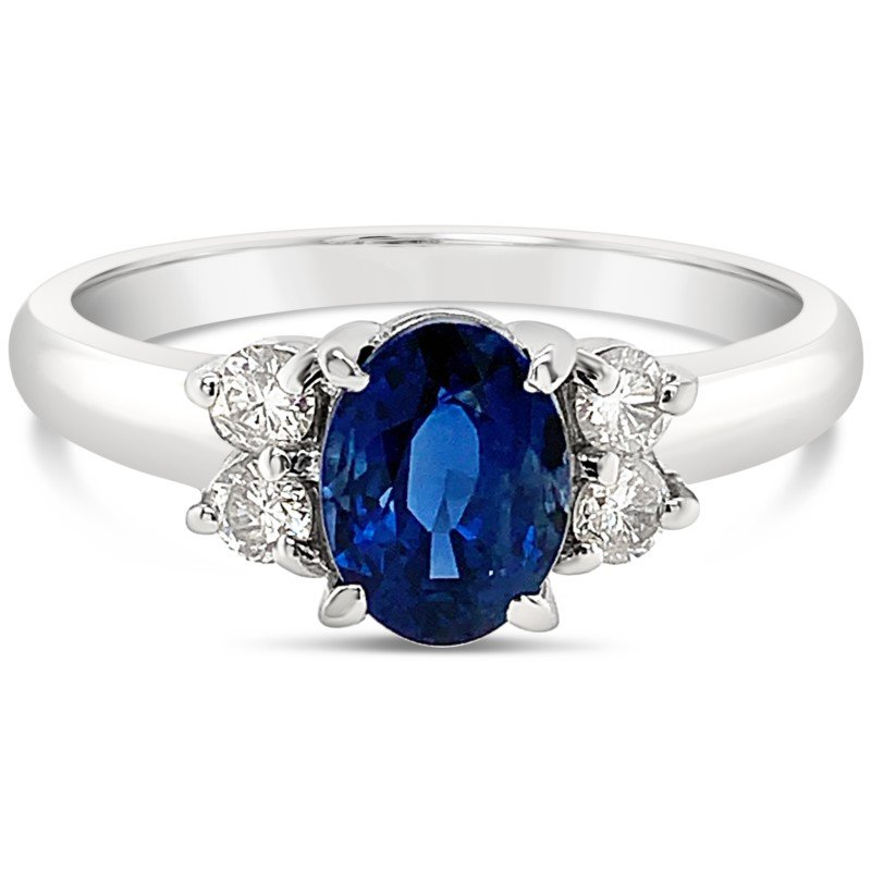 Moses Signature Blue Sapphire & Diamond Ring