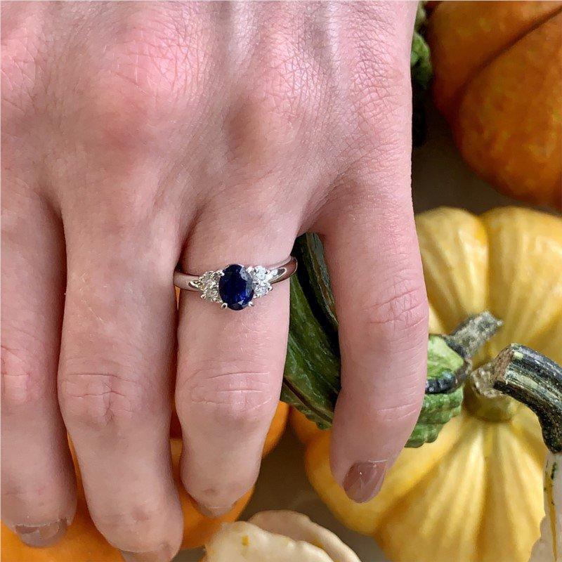 Moses Signature Blue Sapphire & Diamond Ring