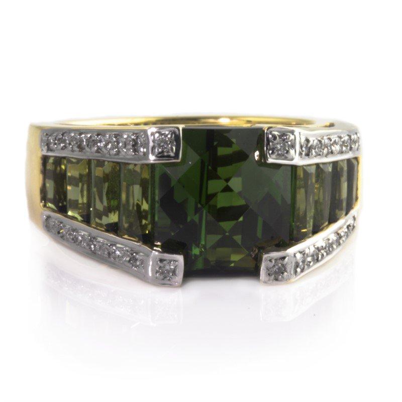 Moses Signature Green Tourmaline Ring