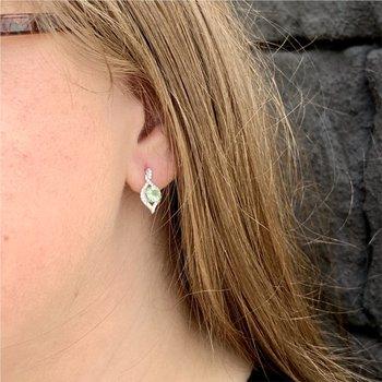 Mint Garnet Earrings