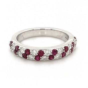 Ruby and Diamond Anniversary Band