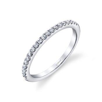 Fishtail Diamond Wedding Band