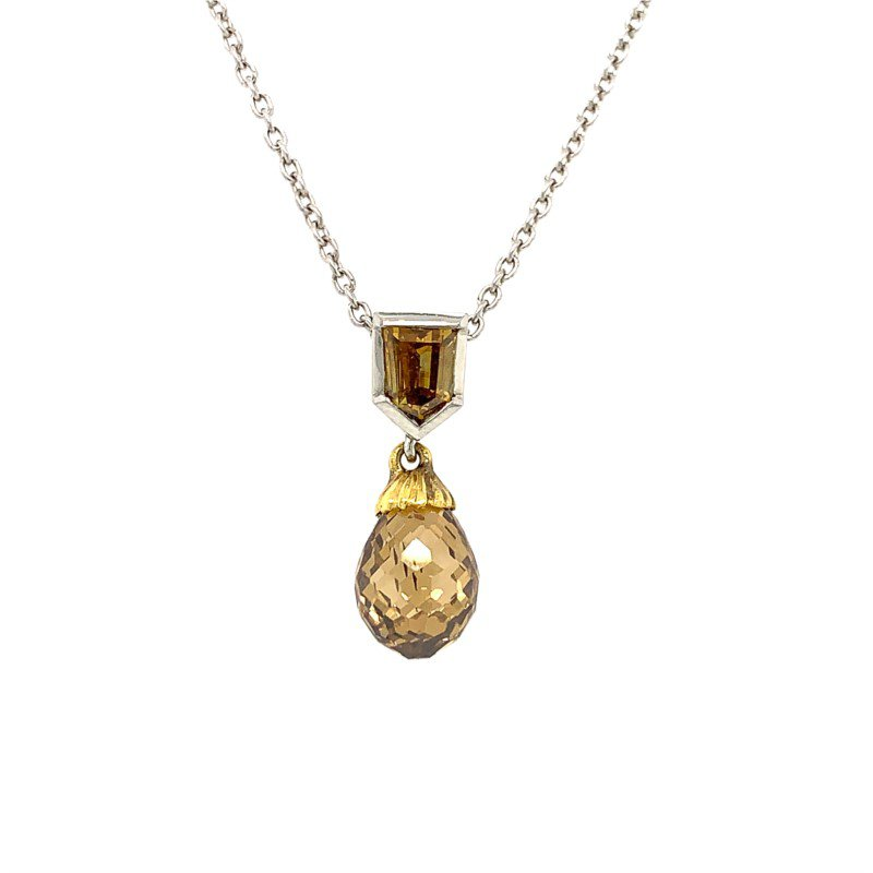 Moses Signature Fancy Color Diamond Necklace