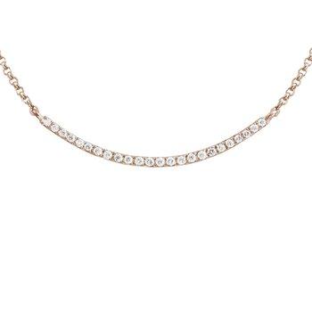 Curved Bar Diamond Necklace