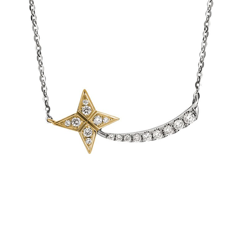 Wear-EVERY-Where Shooting Star Diamond Necklace