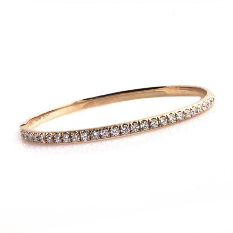 Moses Signature Diamond Bangle Bracelet