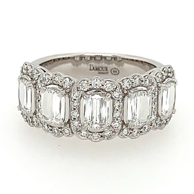 L'Amour by Christopher Designs L'Amour Crisscut®  Diamond Anniversary Band