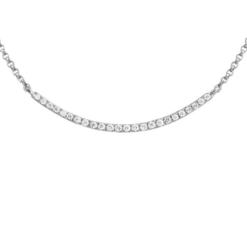 Wear-EVERY-Where Curved Bar Diamond Necklace
