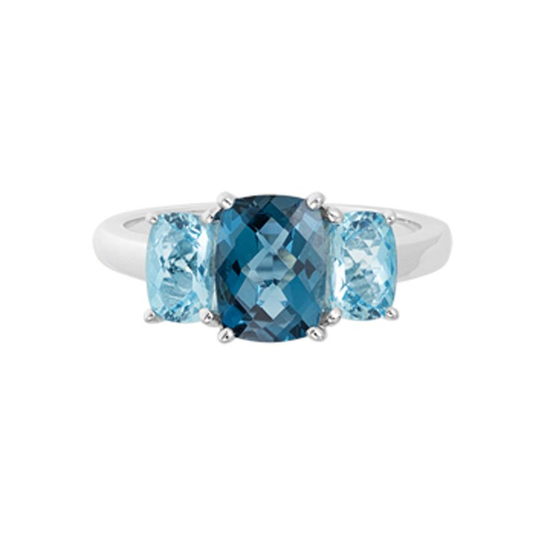 Wear-EVERY-Where London & Sky Blue Topaz Ring