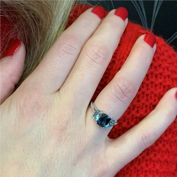 London & Sky Blue Topaz Ring