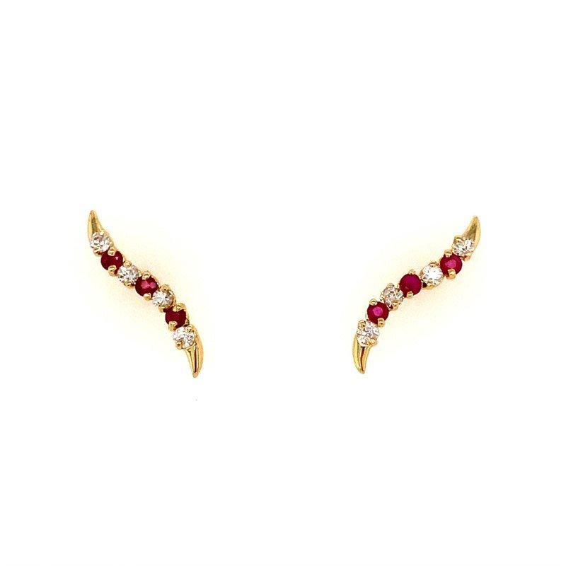 Signature Estate Diamond & Ruby Pins