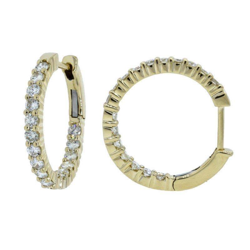 Moses Signature Diamond Hoop Earrings