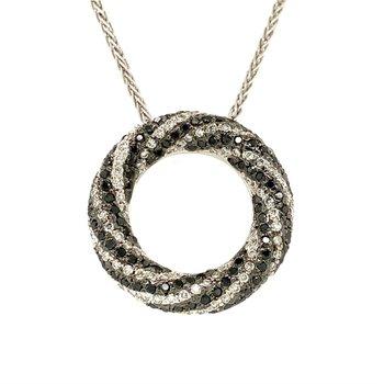 Black and White Diamond Necklace