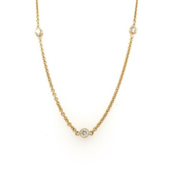 Bezel Station Necklace