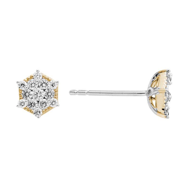 Wear-EVERY-Where Cluster Diamond Earrings