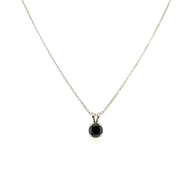 Signature Estate Black Diamond Solitaire Necklace