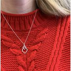 Wear-EVERY-Where Double Leaf Necklace