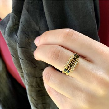 Victorian English Memory Ring