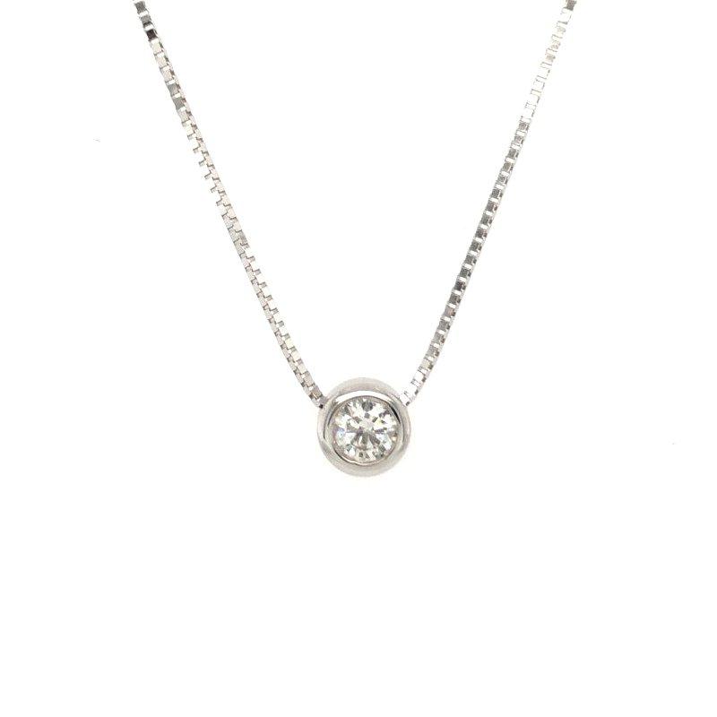 Moses Signature Diamond Solitaire Necklace