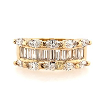 Mixed Diamond Ring