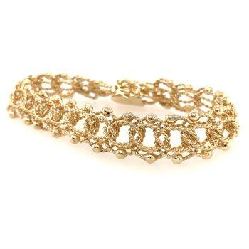 Open Twist Link Bracelet