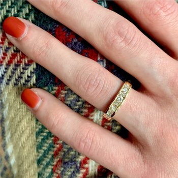 Mixed Diamond Ring