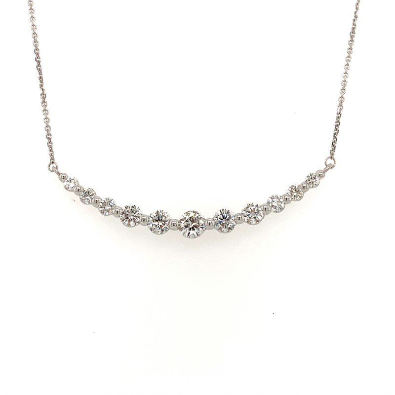 Moses Signature Curved Diamond Necklace