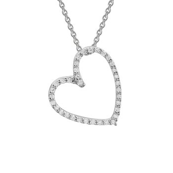 Angled Heart Necklace